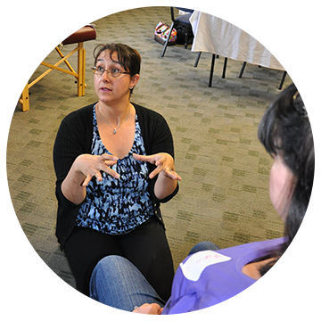 Ana teaching at a CAPPA Labor Doula Workshop